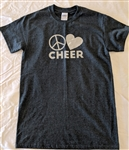 Peace Love Cheer tee, S