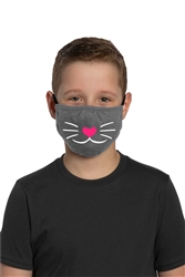 Youth Adjustable Face Mask-Cat face