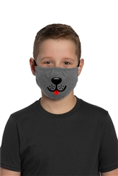 Youth Adjustable Face Mask-Puppy face